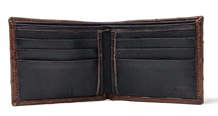 Genuine ostrich bifold wallet