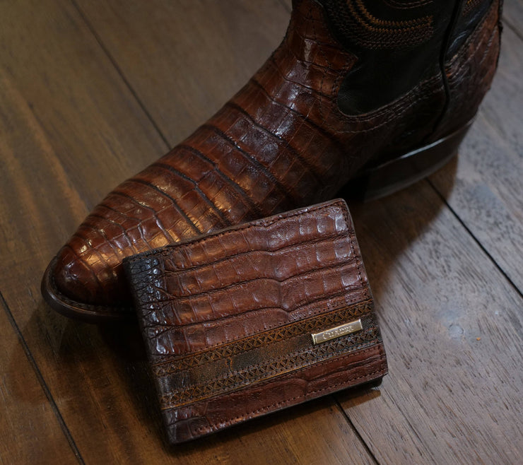 genuine crocodile belly wallet