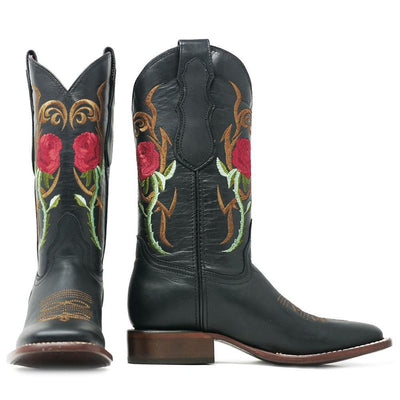 women's square toe cowgirl boots