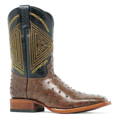 square toe ostrich boots