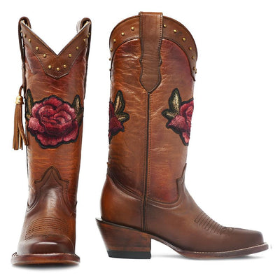 quincy boots floral cowgirl boots