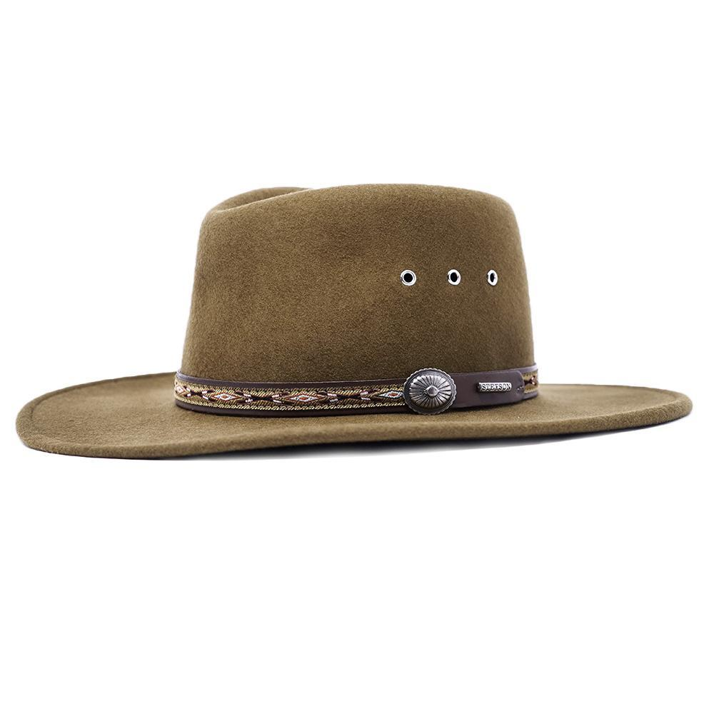 stetson mens wool hat brown