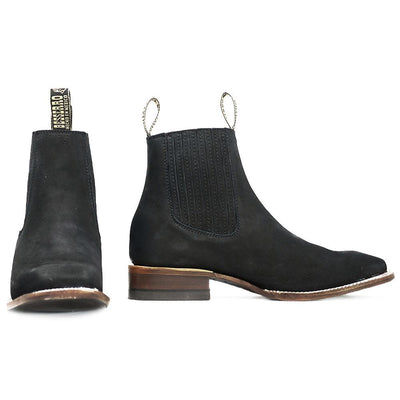 mens square toe ankle boots