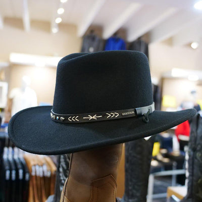 stetson santa fe crushable black