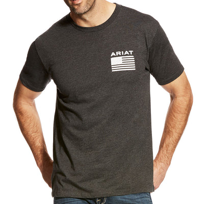 mens grey ariat shirt