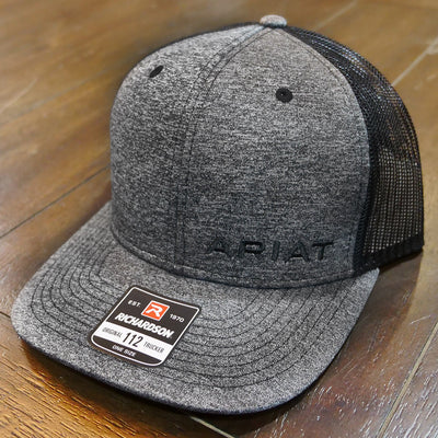 grey ariat richardson cap