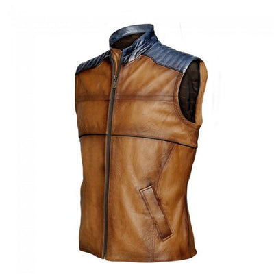 Chaleco Cuadra Leather Vest