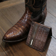 exotic crocodile belly boots