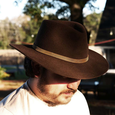 brown crushable outdoor hat