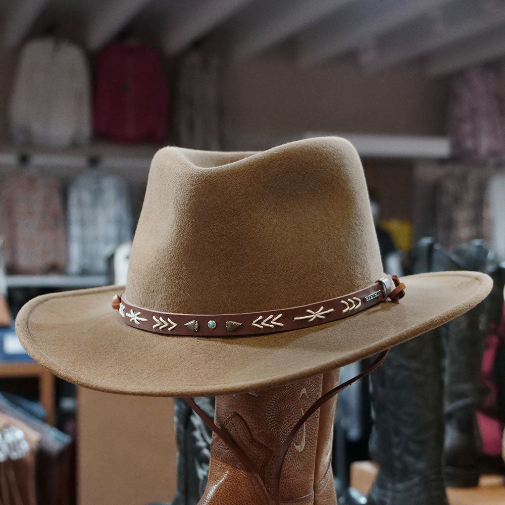 stetson santa fe crushable brown