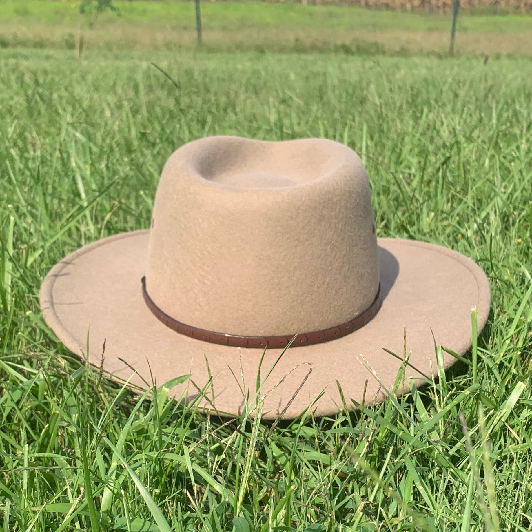 light brown stetson hat crushable