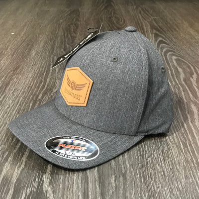 relentless hat with leather patch