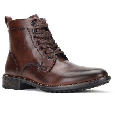 mens brown combat boot