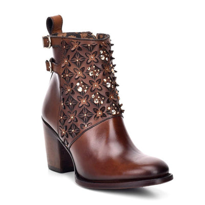 womens leather short boots