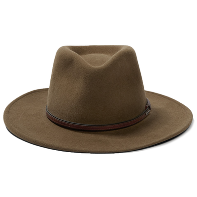 stetson bozeman brown crushable hat