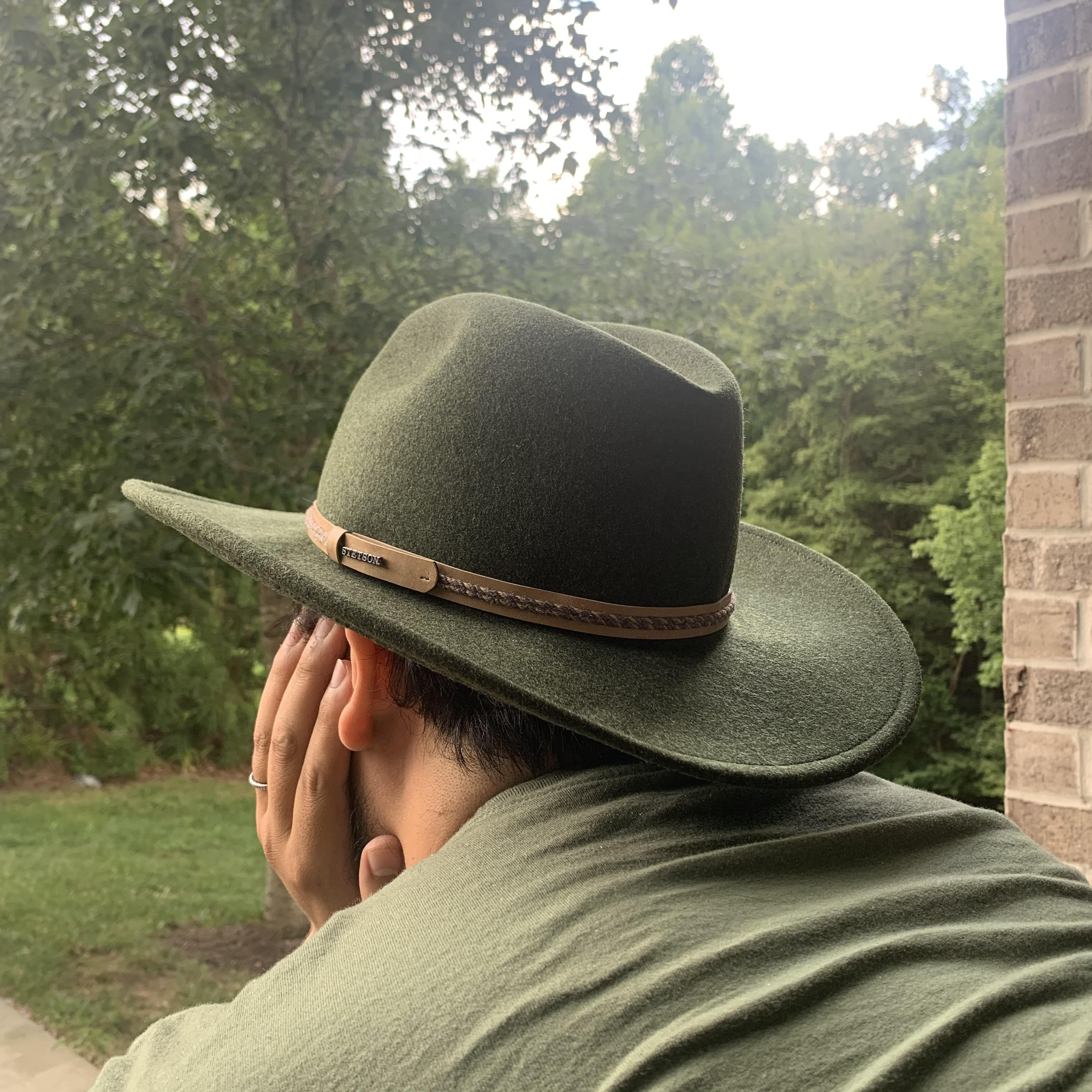 green crushable hat stetson