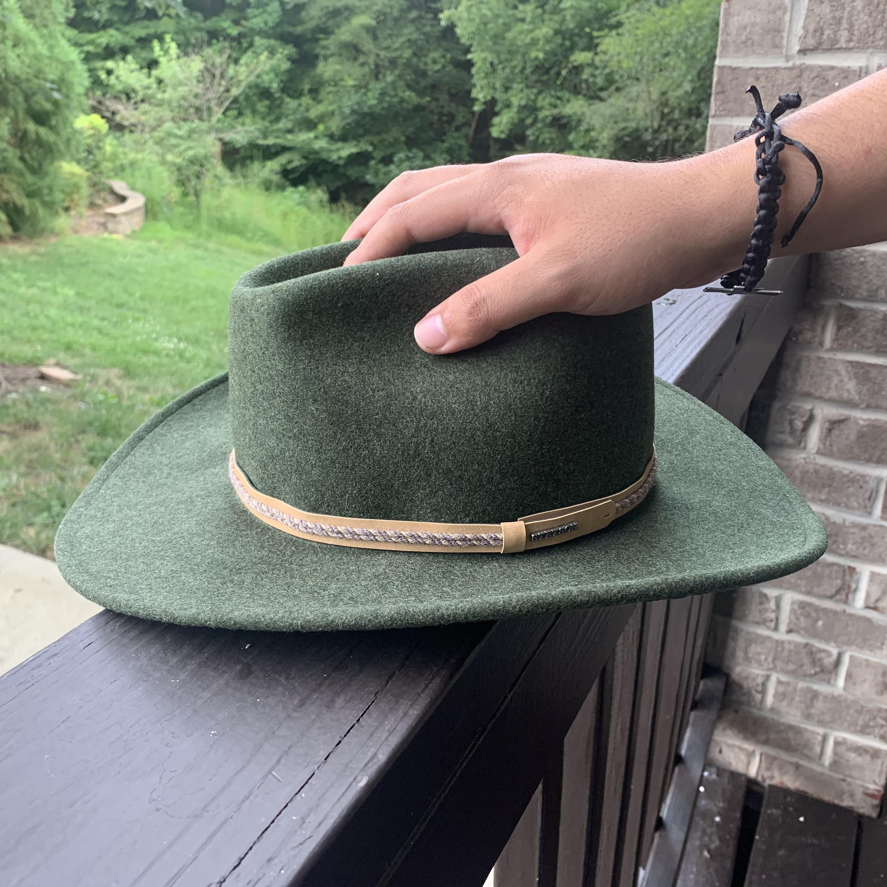 stetson wool crushable hat green