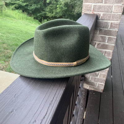 wool outdoor hat green