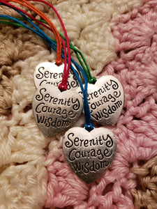 """Serenity, Courage, Wisdom"" Pullover necklace"