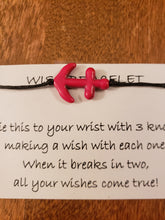Anchor (color) Wish Bracelet