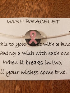 Pink Ribbon Wish Bracelet