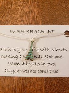 Eiffel Tower Wish Bracelet