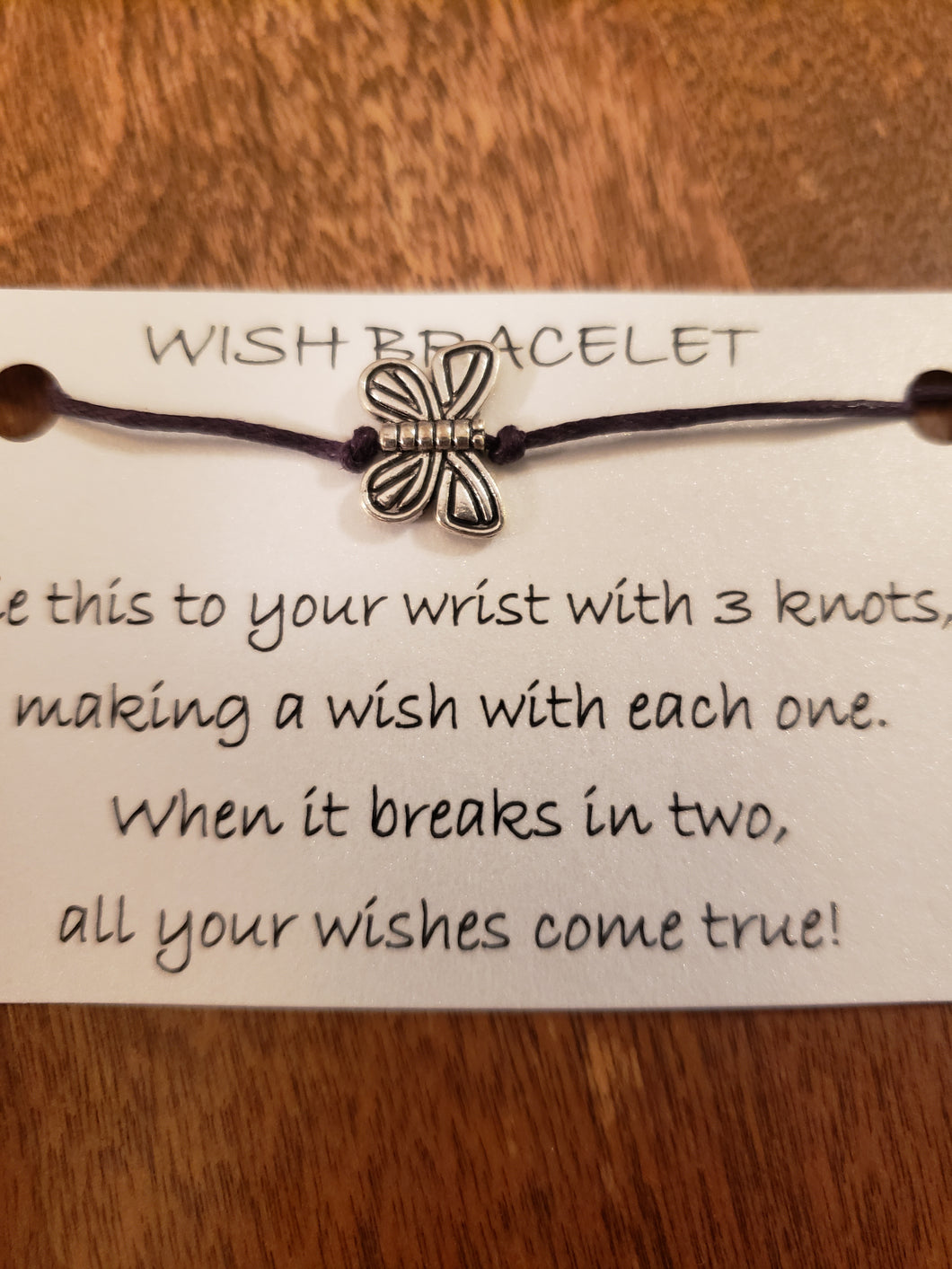 Butterfly (metal) Wish Bracelet