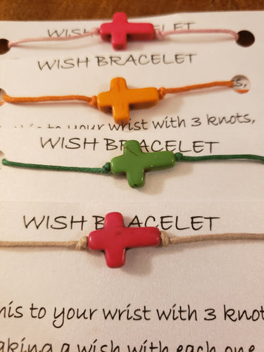 Cross (color) Wish Bracelet