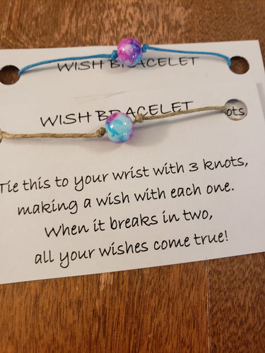 Watercolor Bead Wish Bracelet