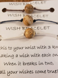 Brown Bead Wish Bracelet