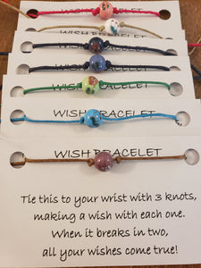 Painted Bead - Floral Wish Bracelet