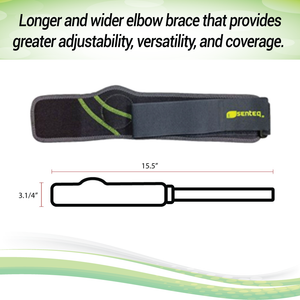 SENTEQ Elbow Brace Support Strap - Tennis & Golfer's Elbow Strap Band (SQ1-H009)