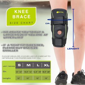 SENTEQ Dual Metal Hinged Knee Brace (SQ1-L006)