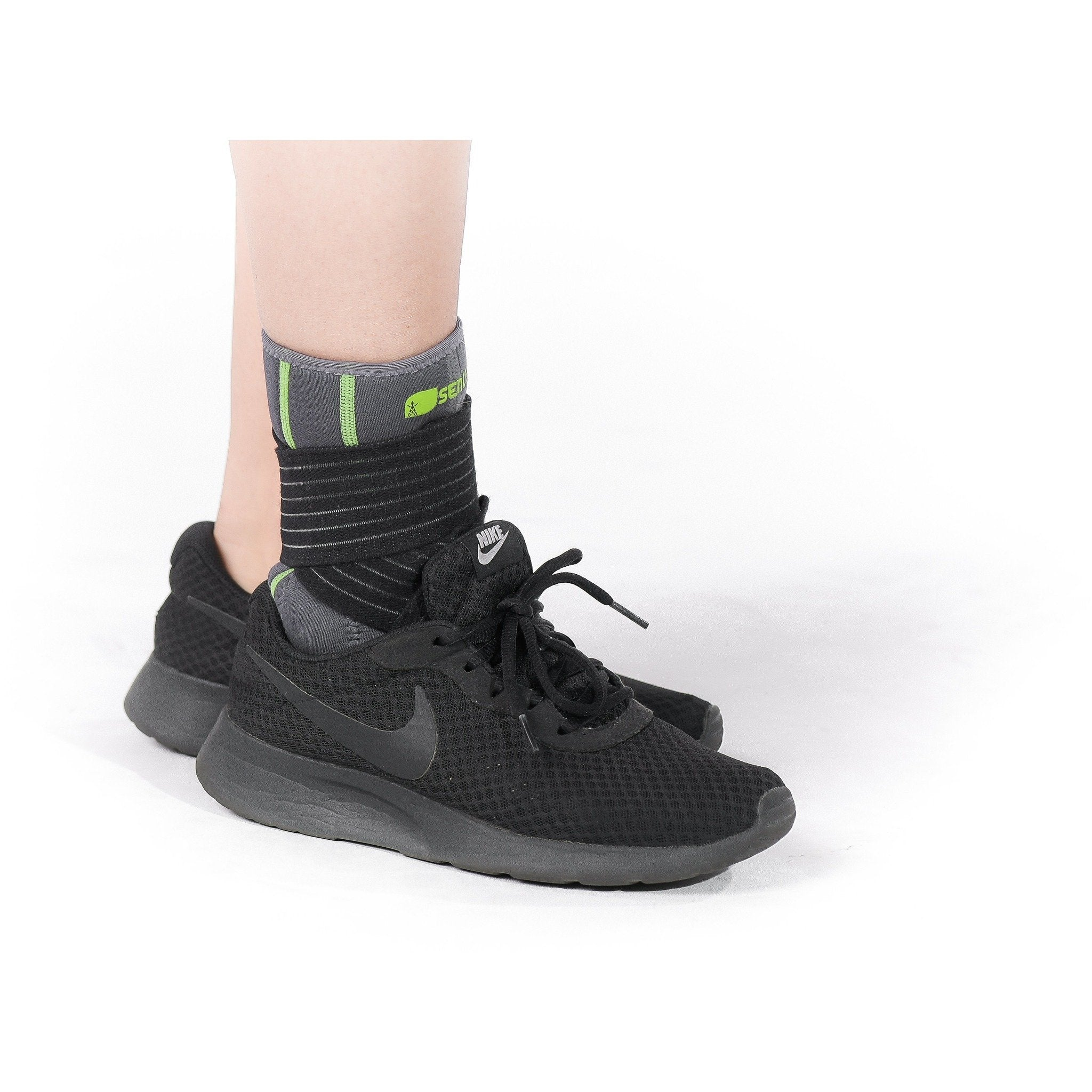 SENTEQ Ankle Stabilization Sleeve with Strap and Gel Padding Support (SQ2-N003)-ankle-SENTEQ