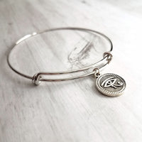 Eye of Horus Bracelet - silver Egyptian moon god celestial round coin charm of protection & healing symbol - wadjet protect health heal gift - Constant Baubling