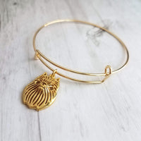 Brussels Griffon Charm Bracelet - adjustable wire bangle - gold griff monkey dog breeder, pet sitter, rescue, vet, groomer gift - Ewok / Gremlin dog - Constant Baubling