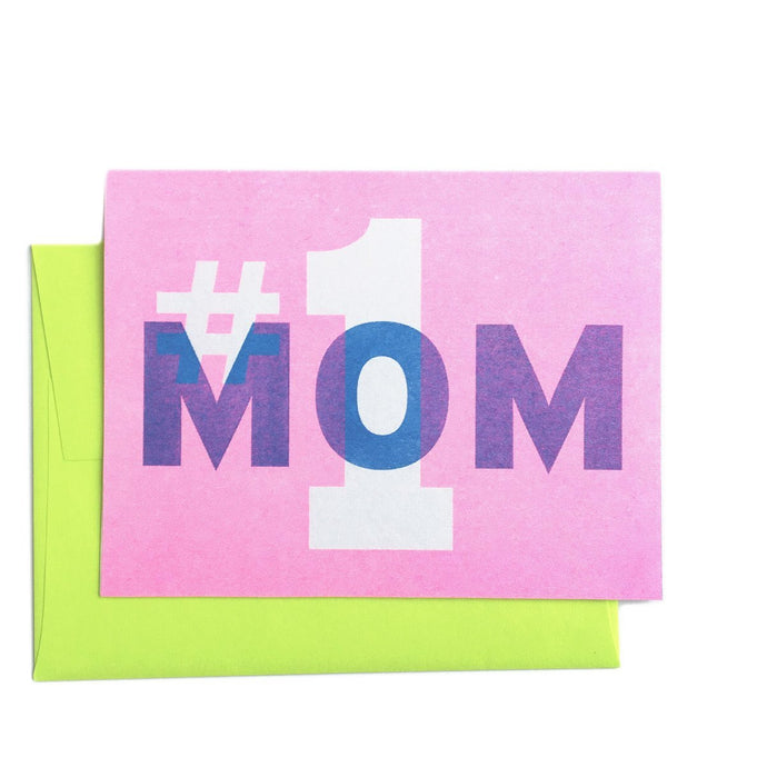 #1 Mom - Mother's Day Greeting Card - Next Chapter Studio