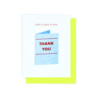 Thank you - Card on a Card Greeting Card