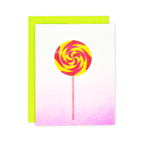 Candy Cards: Lollipop Risograph Card