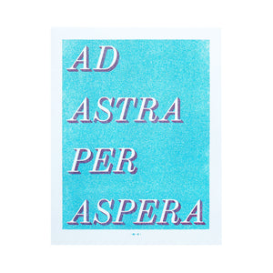 Ad Astra Per Aspera - Risograph Art Print - Next Chapter Studio