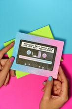 """Best Songs Ever"" Cassette - Risograph Greeting Card - Next Chapter Studio"