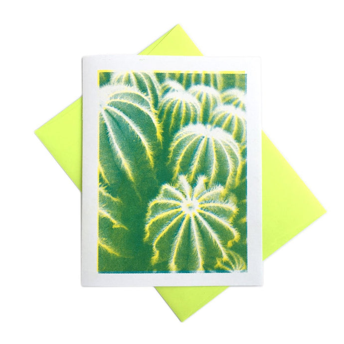 Cactus - Risograph Greeting Card - Next Chapter Studio
