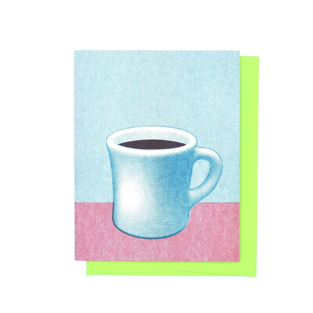 Coffee Mug - Risograph Greeting Card - Next Chapter Studio