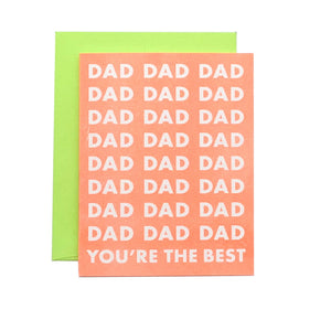 Dad You're the Best - Risograph Greeting Card - Next Chapter Studio