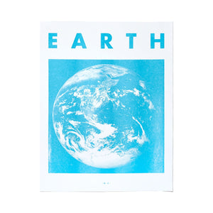 Earth - Planet Risograph Print - Next Chapter Studio