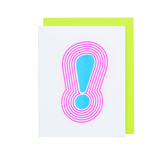 Exclamation (!) Bubble Letters - Risograph Greeting Card - Next Chapter Studio