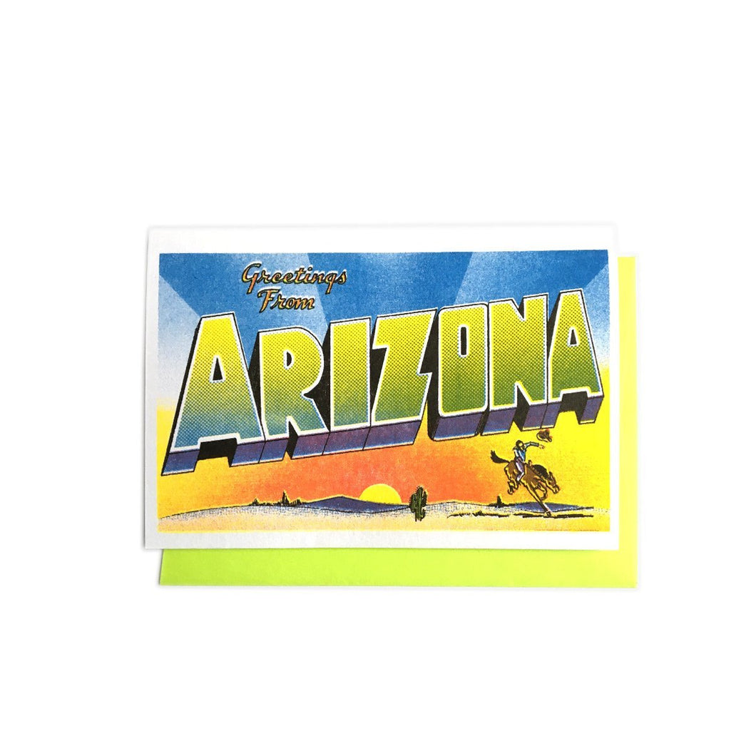 Greetings from: Arizona Risograph Card - Next Chapter Studio