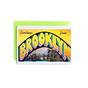 Greetings from: Brooklyn - Risograph Card - Next Chapter Studio