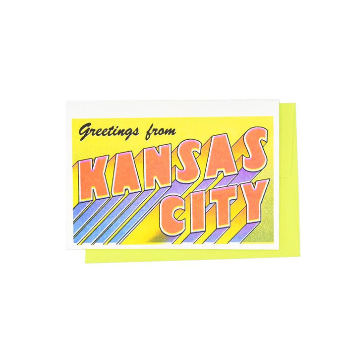 Greetings from: Kansas City, Missouri Risograph Card - Next Chapter Studio