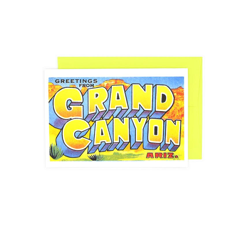 Greetings from: The Grand Canyon, Arizona Risograph Card - Next Chapter Studio